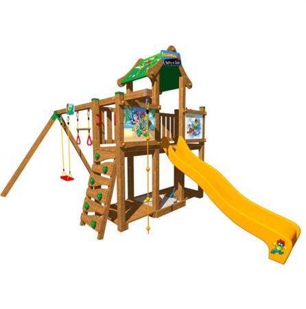 Castello-torri-legno-gioco-giardino