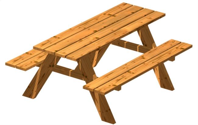 Tavolo Pic Nic in legno per bambini