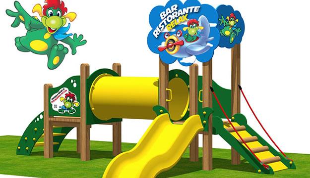 giochi in legno per parchi pubblici